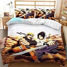 ZKDT Proxiceen Naruto - Juego de ropa de cama de