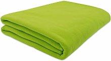 ZOLLNER Manta Polar para sofá, Verde, 130x170 cm,