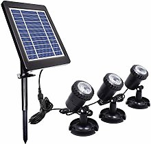 ZONJIE Luces solares para estanques, IP68
