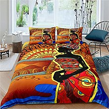 Zqylg Ropa de cama africana, diseño étnico afro,
