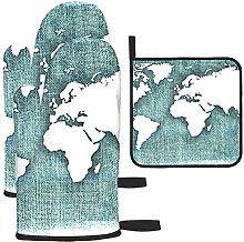 zsxaaasdf Mapa del Mundo con Fondo de Lino de