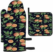 zsxaaasdf Ramas de Naranja con Frutas en Oscuro