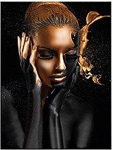 zxiany Arte Africano Mujer Pintura de Lienzo