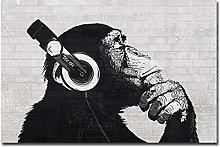 zxiany Arte de la Lona Decor de la Pared Música