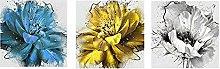 zxiany Pintura al óleo de Flores de Oro Azul
