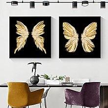 zxiany Pintura sobre Lienzo Alas de Mariposa con