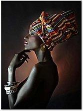zxiany Pintura sobre Lienzo Mujer Desnuda Africana